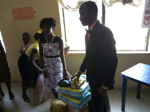 Tunde & Deola (the celebrants) presenting the gifts