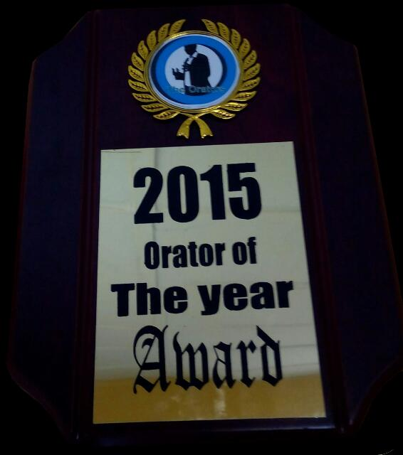 orator of the year award