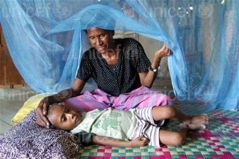 Image result for malaria sick child
